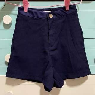Playdress Navy Blue High Waist Shorts