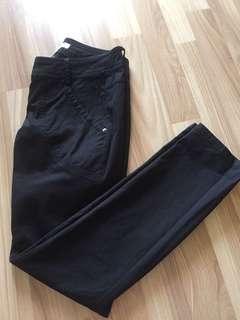 Mng skinny black pant