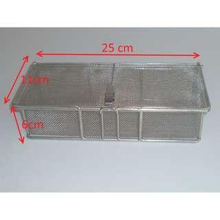 Vintage ! 80s' Heavy Duty Stainless Steel Cleaning Basket Mesh with Latch