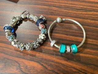 潘朵拉 pandora  硬環 串珠 蛇鏈
