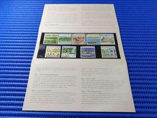 1990 Singapore Presentation  Pack Singapore Definitive Postage Stamps ( Tourism Series - Low Values ) Commemorative Stamp Issue MNH