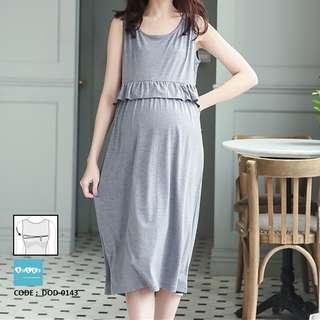 743f694e63 Long Maternity Nursing Dress DOD-0143