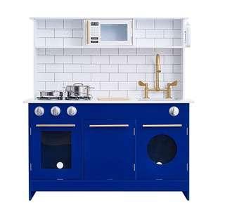 (PO) BN Teamson Kids Little Chef Berlin Modern Play Kitchen Set - White / Blue