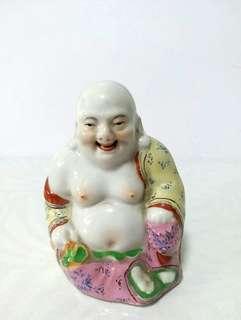 笑面佛 手繪白瓷