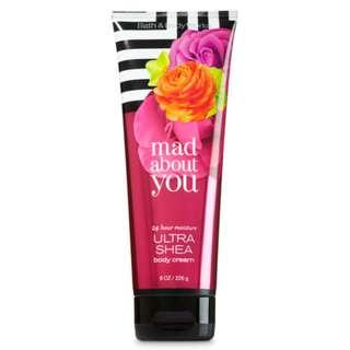 Bath and Body Works Mad About You Ultra Shea Body Cream Lotion 226g