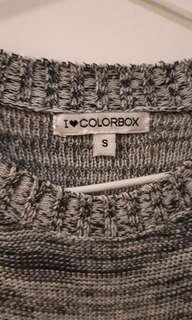Colorbox top sweater grey