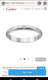 Cartier 1895 Wedding Band Ring Platinum Diamond
