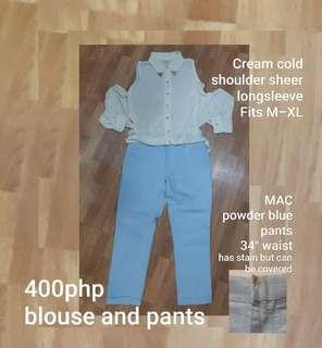 FREE SF Pants and blouse