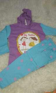 Baju Piyama Hoodie anak