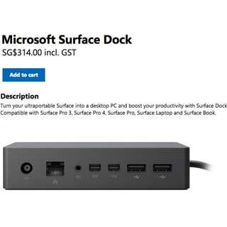 Original Microsoft Surface Pro Dock (Brand New)