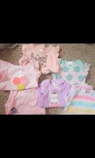 Bundle pack Tshirt & singlet onesies, and one normal Tshirt