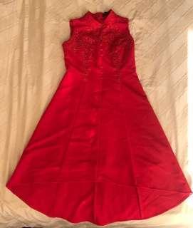 Red CNY Dress L