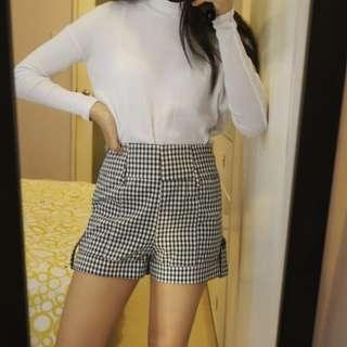 Forever 21 Gingham High Waist Shorts