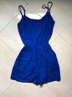 H&M navy blue jumpsuit
