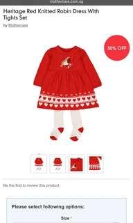 🚚 Mothercare knitted dress with tight set