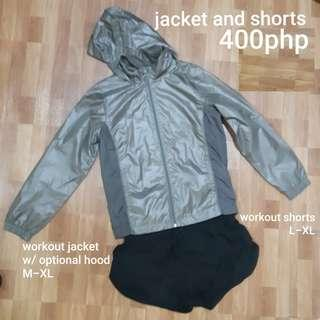 FREE SF Workout jacket and shorts