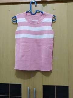 Knit top pink