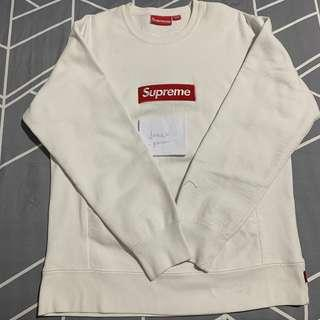 🚚 Supreme FW15 Box Logo Crewneck White