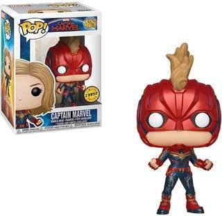 Funko Pop! Marvel #425: Captain Marvel - Captain Marvel Masked (Chase)