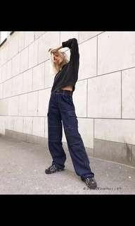 ulzzang baggy denim jeans