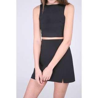 🚚 RWB Runway Bandits Black keyra a-line skirt