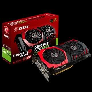 Graphic Card MSI NVIDIA GEFORCE GTX 1060 Gaming X 6G