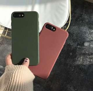 🚚 Iphone 7 solid red casing