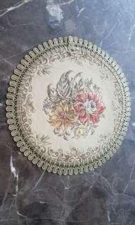 茶壺 花盆繡花枱墊