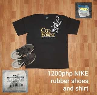 FREE SF Nike rubber shoes with shirt
