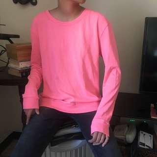 PINK DIVIDED LONG SLEEVE