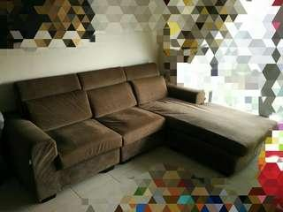 L Shape Sofa (last price to clear! First come first serve!)