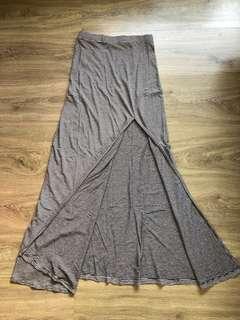 XXI Maxi Slit Grey Skirt