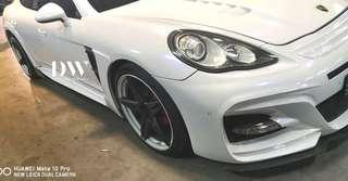 Custom Made Carbon fiber side diffuser / side skirt for Porsche Panamera or other models
