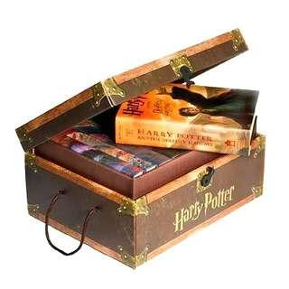 🔥Harry Potter Hard Cover Boxed Set In a Storage Chest! - Books 1 to 7