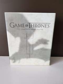Game of Thrones Blu Ray Season 3
