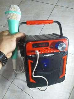 out door karaoke music player with microphone