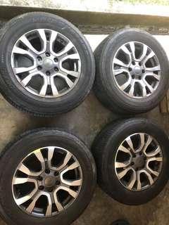 "Original Ford Ranger Wildtrak 18"" Rims with tyres"