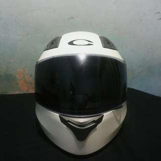 Helm Cargloss Full Face White