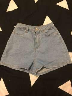 High waisted fitted shorts