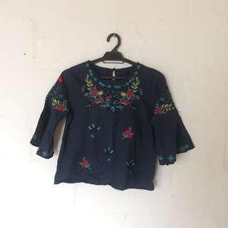 Embroidery Blouse Waist Top