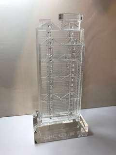 Large 1985 HSBC Crystal 滙豐銀行大廈水晶擺設