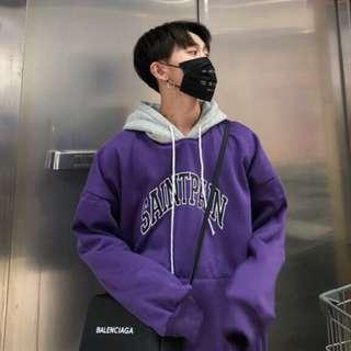 🚚 韓版紫色帽T