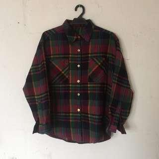 Oversized Checkered Flannel Shirt