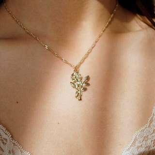 rose bloom necklace - gold / silver (kalung)