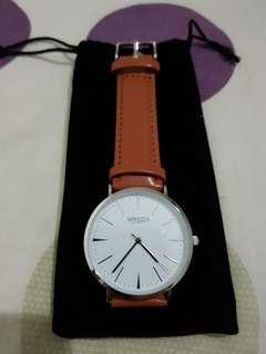 🚚 Minimalist  watch. brand new with pouch. fast deal can nego