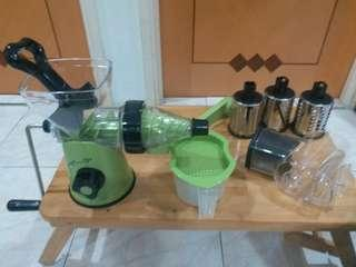 Manual juicer and Drum grater set手動攪拌機