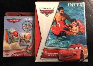 Disney Cars swimming pool float and arms float .Bundle