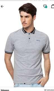 Sideways polo shirt