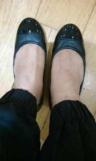 Rockport black women flat shoes size 35.5