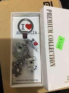 三不樹熊鑰匙圈吊飾